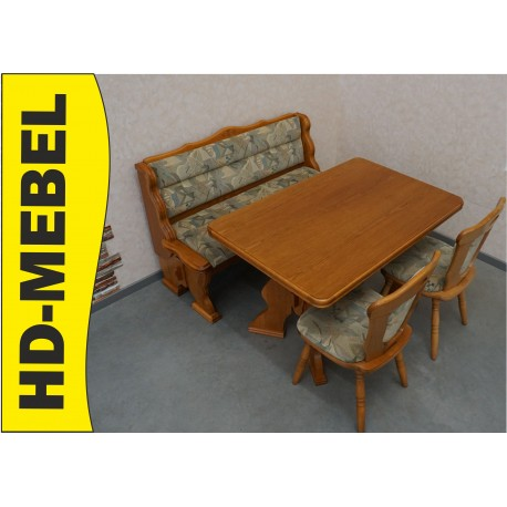ŁAWKA  KUCHENNA DĄB + stół + 2 krzesła
